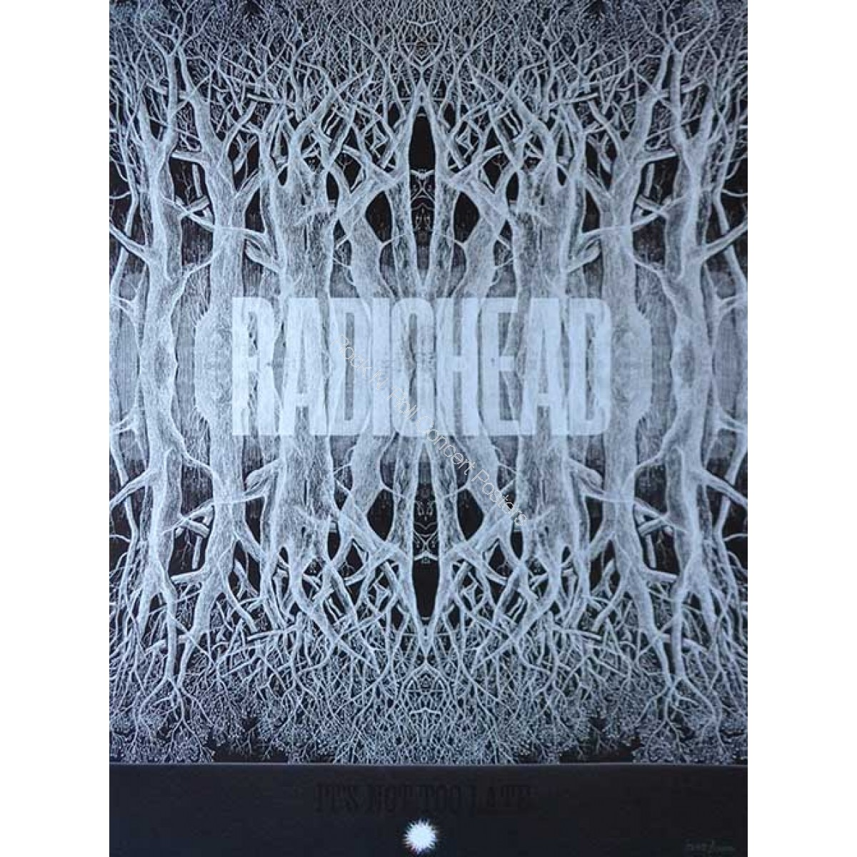 Radiohead King Of Limbs North American Tour 2012  Limited Edition Print Hand Numbered Edition