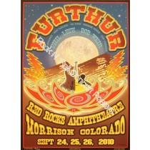 Furthur (Grateful Dead) @ Red Rocks September 24-26th 2010 official screen print