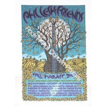 "Phil Lesh & Friends ""Fall Harvest 07"" Fall Tour 2007 Official Silk Screen Poster S/N LE of 775"