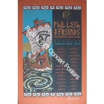 Phil Lesh & Friends Summer Tour 2001 Official Limited Edition Silk Screen Poster S/N edition of 600