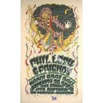 Phil Lesh & Friends Bill Graham Civic Auditorium Mardi Gras Concert  1/26/08 Official screen print. With Bonus Autograph of Phil Lesh