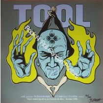 Tool @The Compaq Center Houston 7/27/02 screen print on metal