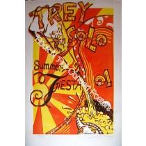Trey Anastasio Solo Summer Fiesta 01 linocut print By AJ Mathshay