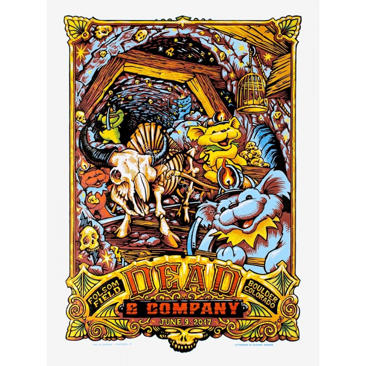 Dead & Company Folsom Field Boulder Colorado June 9th 2017 LE Screen Print Poster
