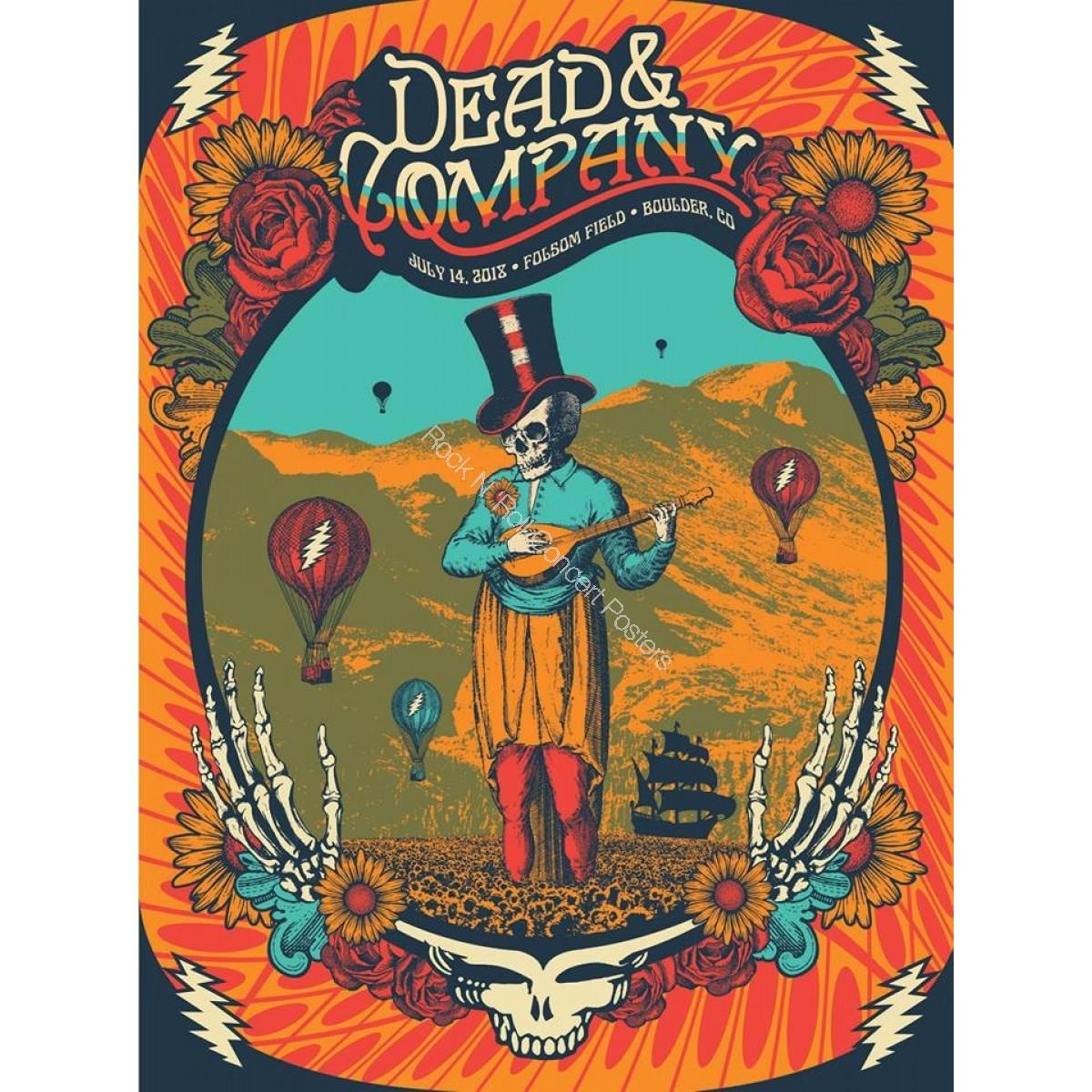 Dead & Company Folsom Field Boulder Colorado July 14th 2018 LE Screen Print Poster