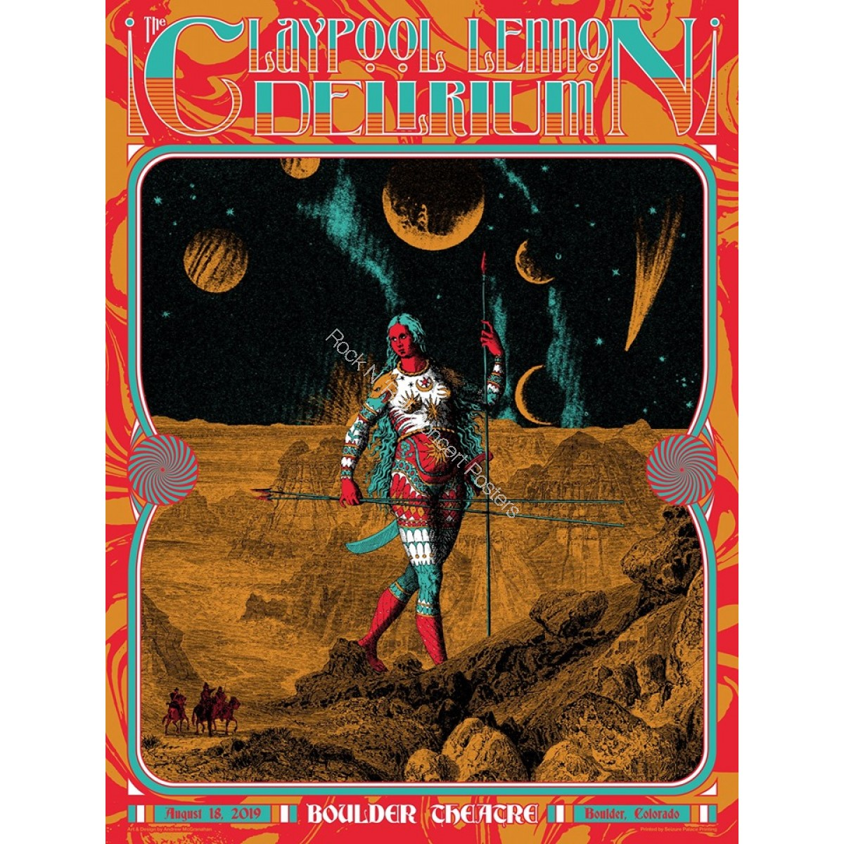 Claypool Lennon Delirium Boulder Theater Boulder Colorado August 18th 2019 Official Silk Screen Print
