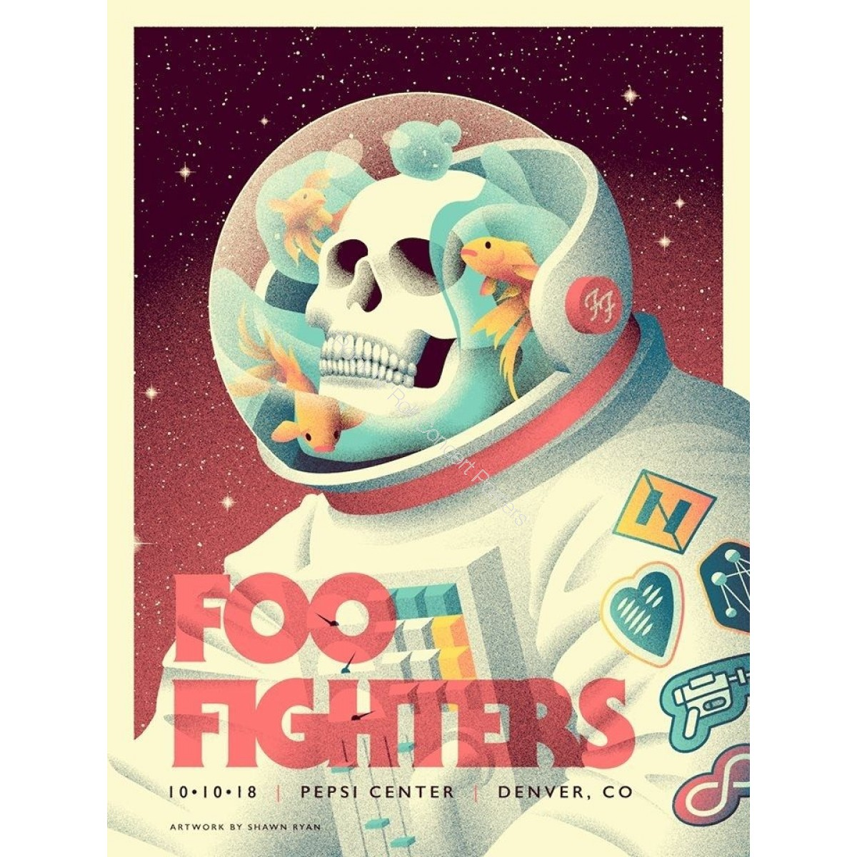 Foo Fighters Pepsi Center Denver 10/10/18 Official Poster 1st Edition of 425