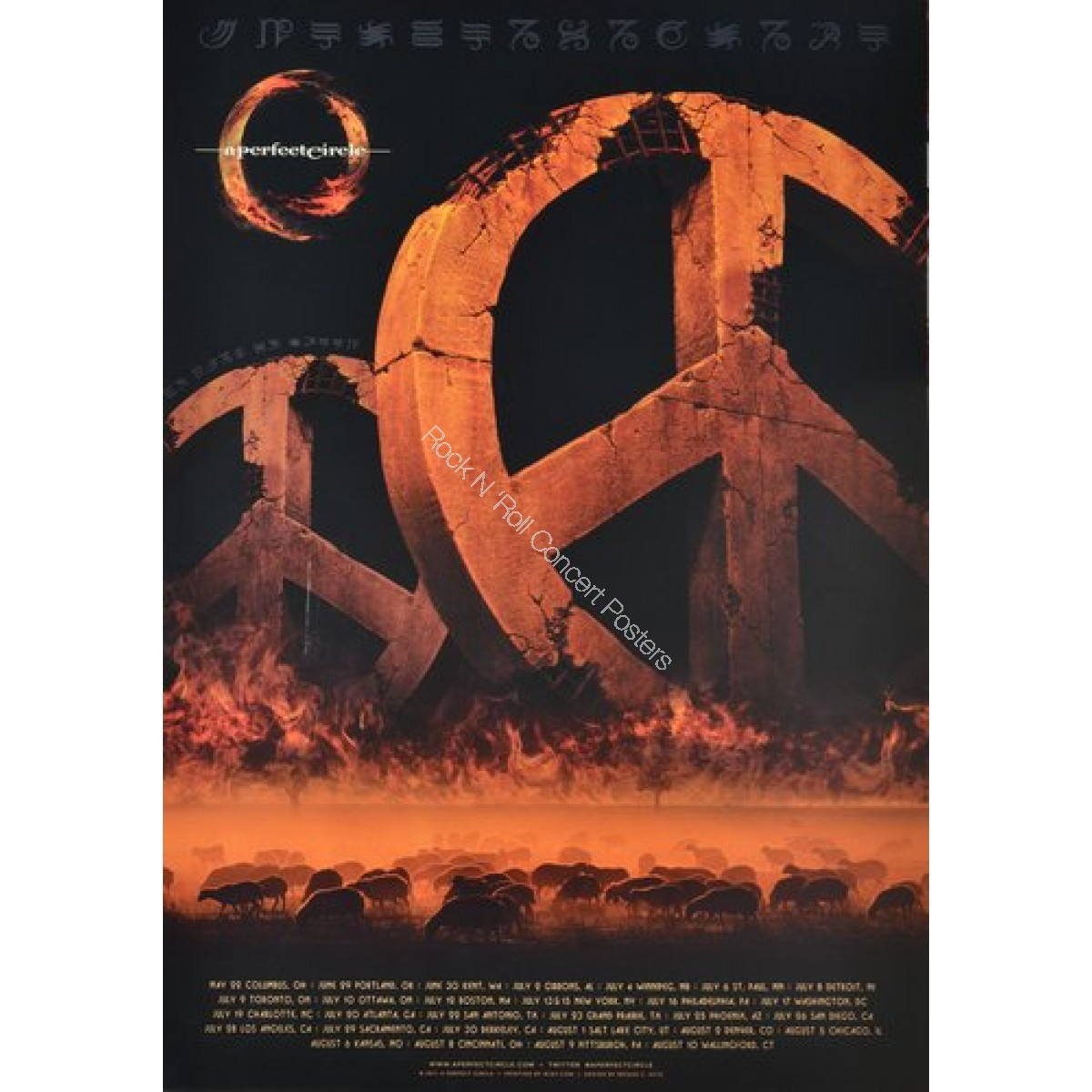 A Perfect Circle North American Tour Lithograph 2011