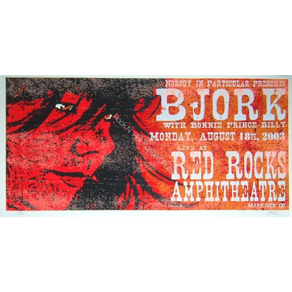 Bjork Red Rocks Amplitheatre 8/18/03