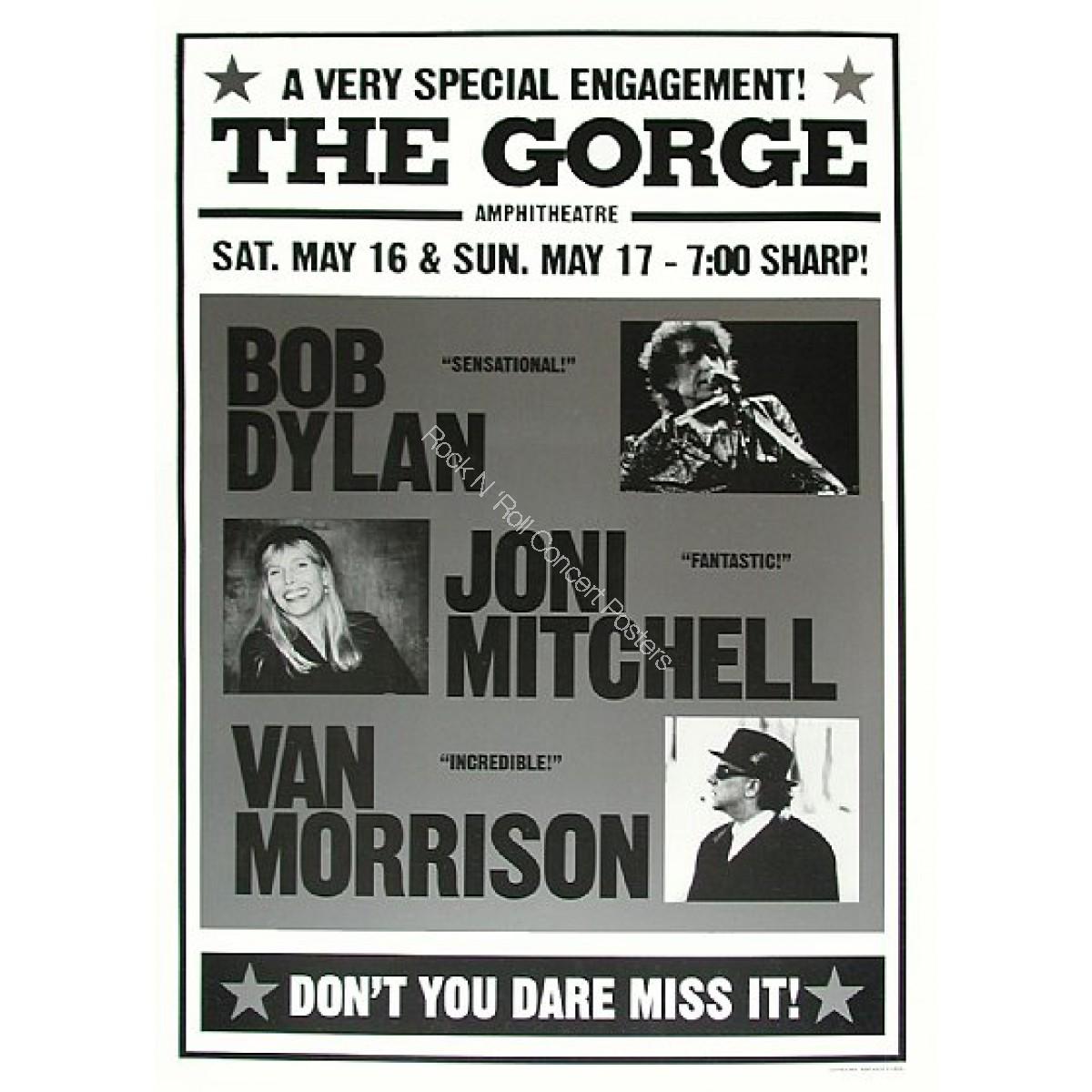 Bob Dylan, Van Morrison, Joni Mitchell @ The Gorge