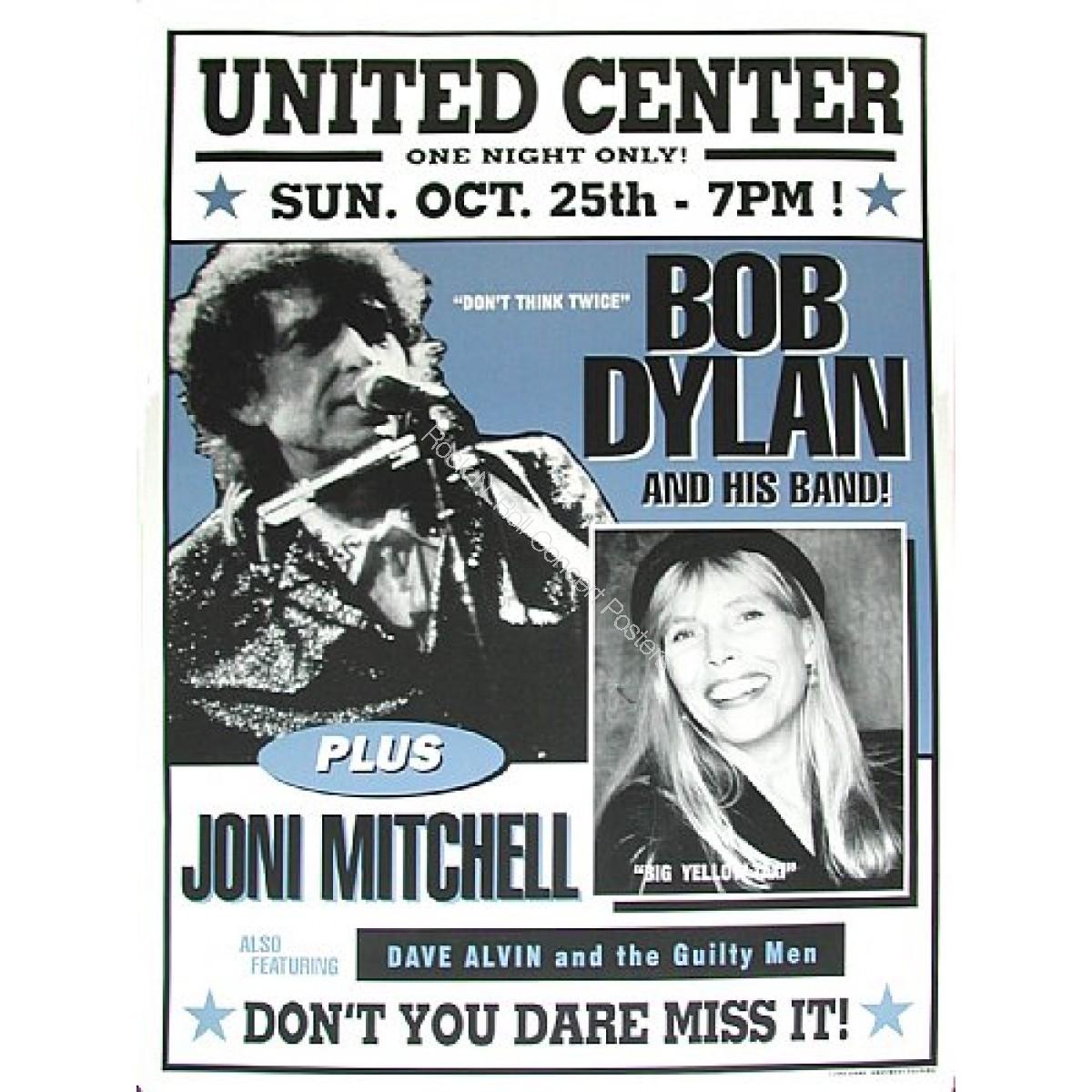 Bob Dylan, Joni Mitchell & Dave Alvin Chicago