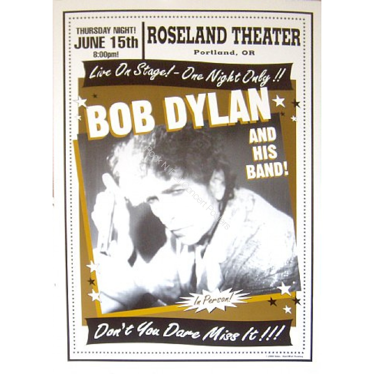 Bob Dylan @ The Roseland Theatre 6/15/00