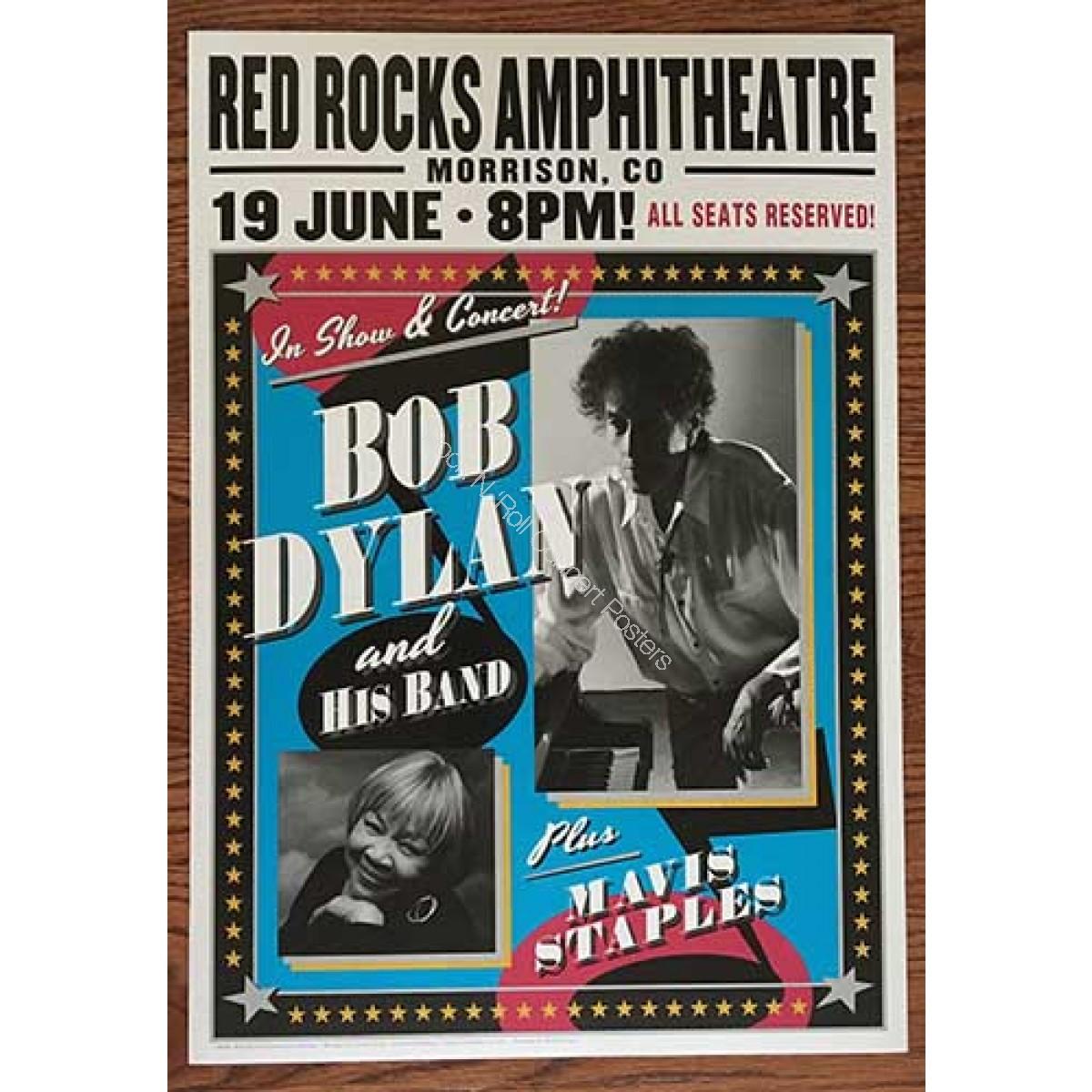 Bob Dylan & Mavis Staples @ Red Rocks Amphitheatre June 19th 2016 Official Poster