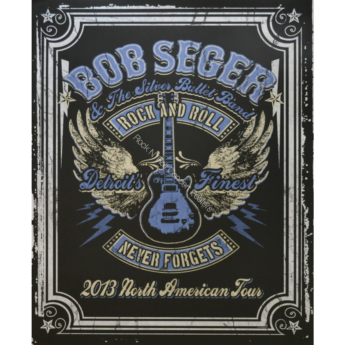 Bob Seger & The Silver Bullet Band North American Tour  2013 limited edition serigraph print