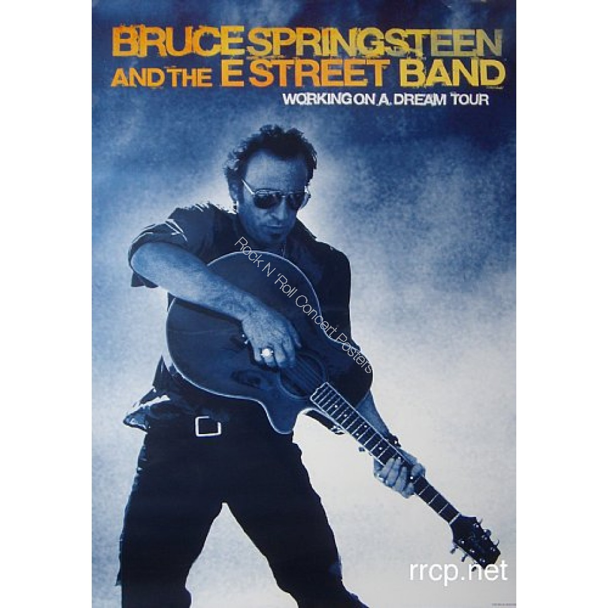 Bruce Springsteen Working On A Dream Tour Poster Original 1st printing 2009