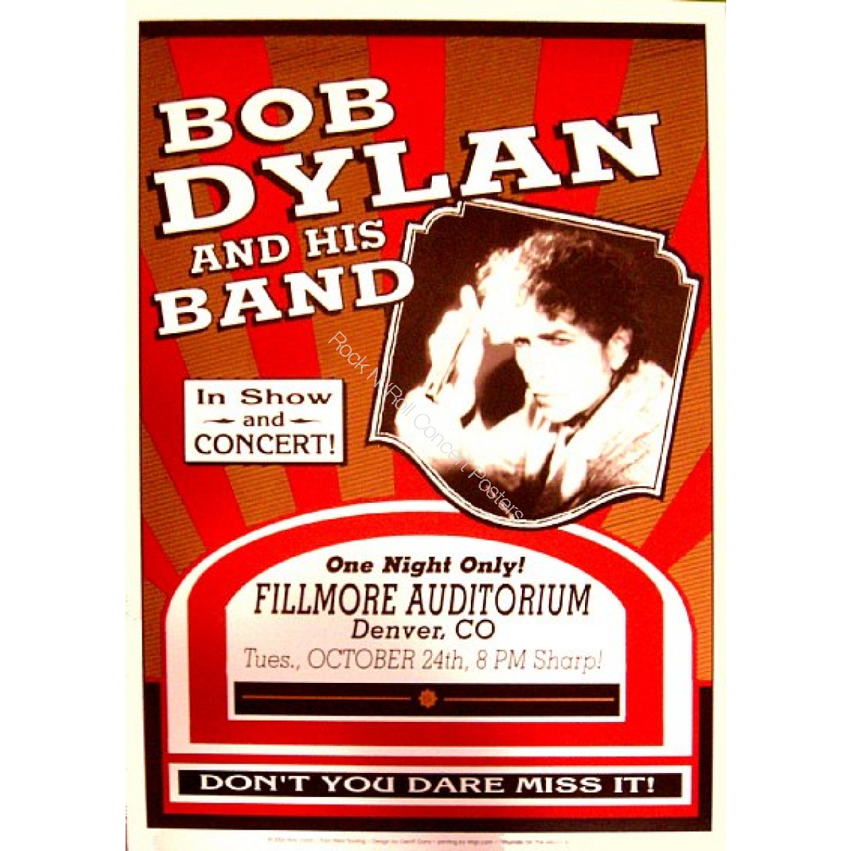Bob Dylan @ The  Denver Fillmore 10/24/06
