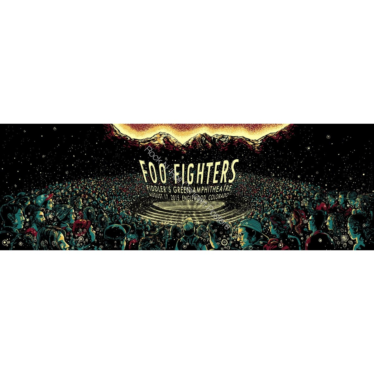 Foo Fighters Fiddler's Green Englewood / Denver Colorado 8/17/15 Night 2 Poster S/N 1st Edition