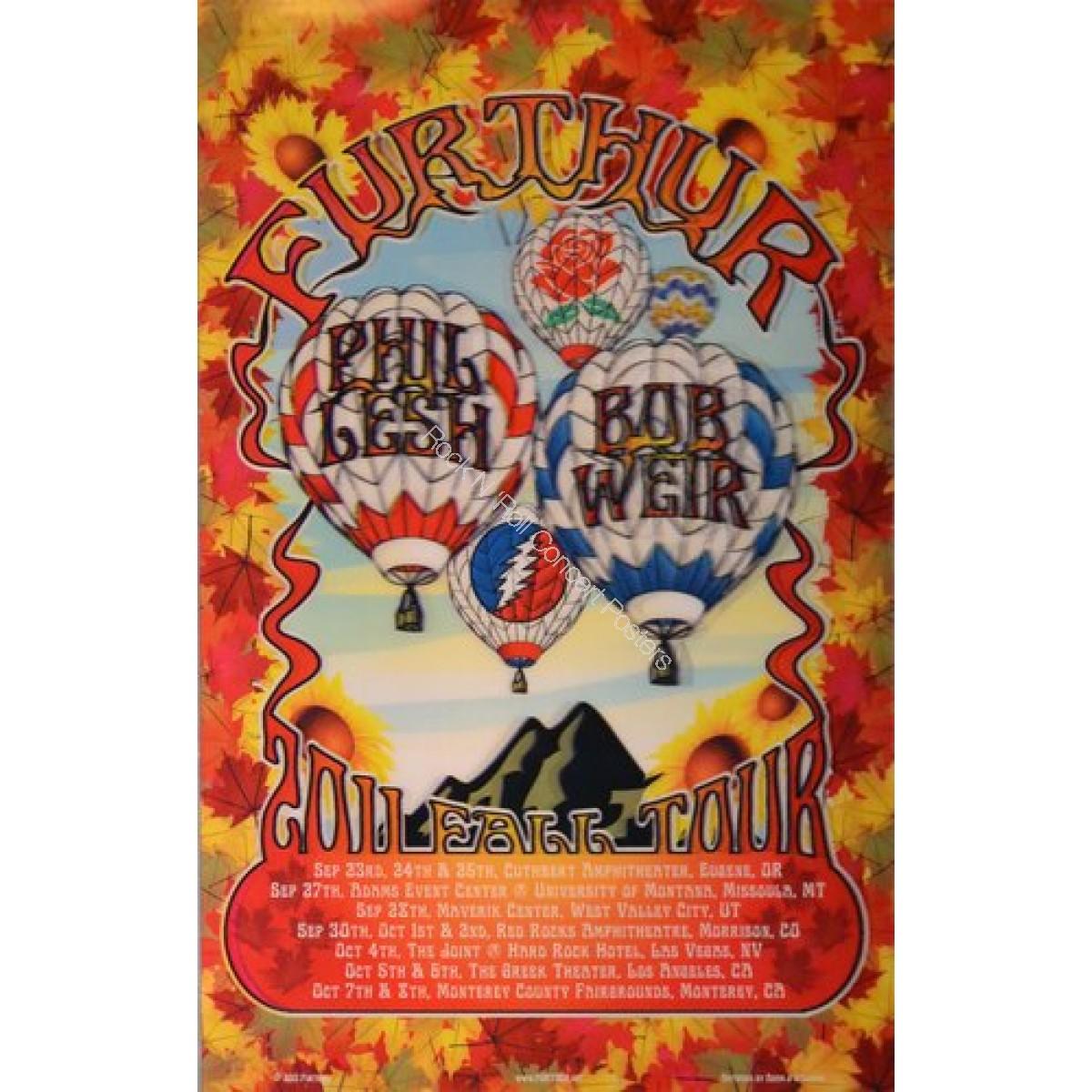 Furthur West Coast Tour 2011 lenticular print