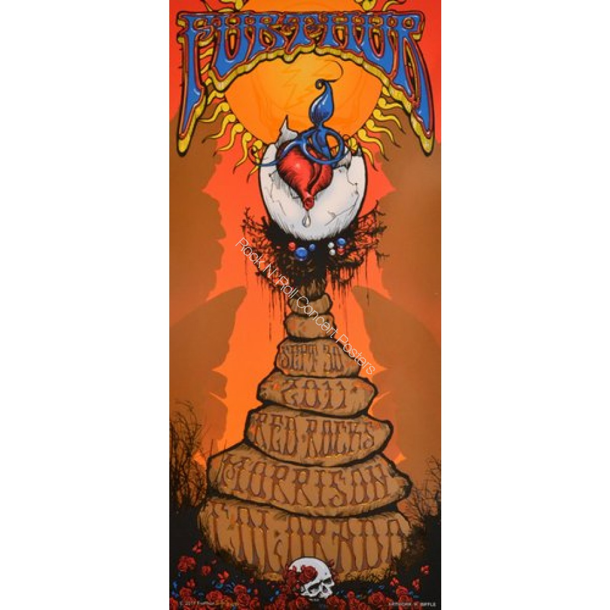 Furthur Red Rocks 9/30/11 Official print