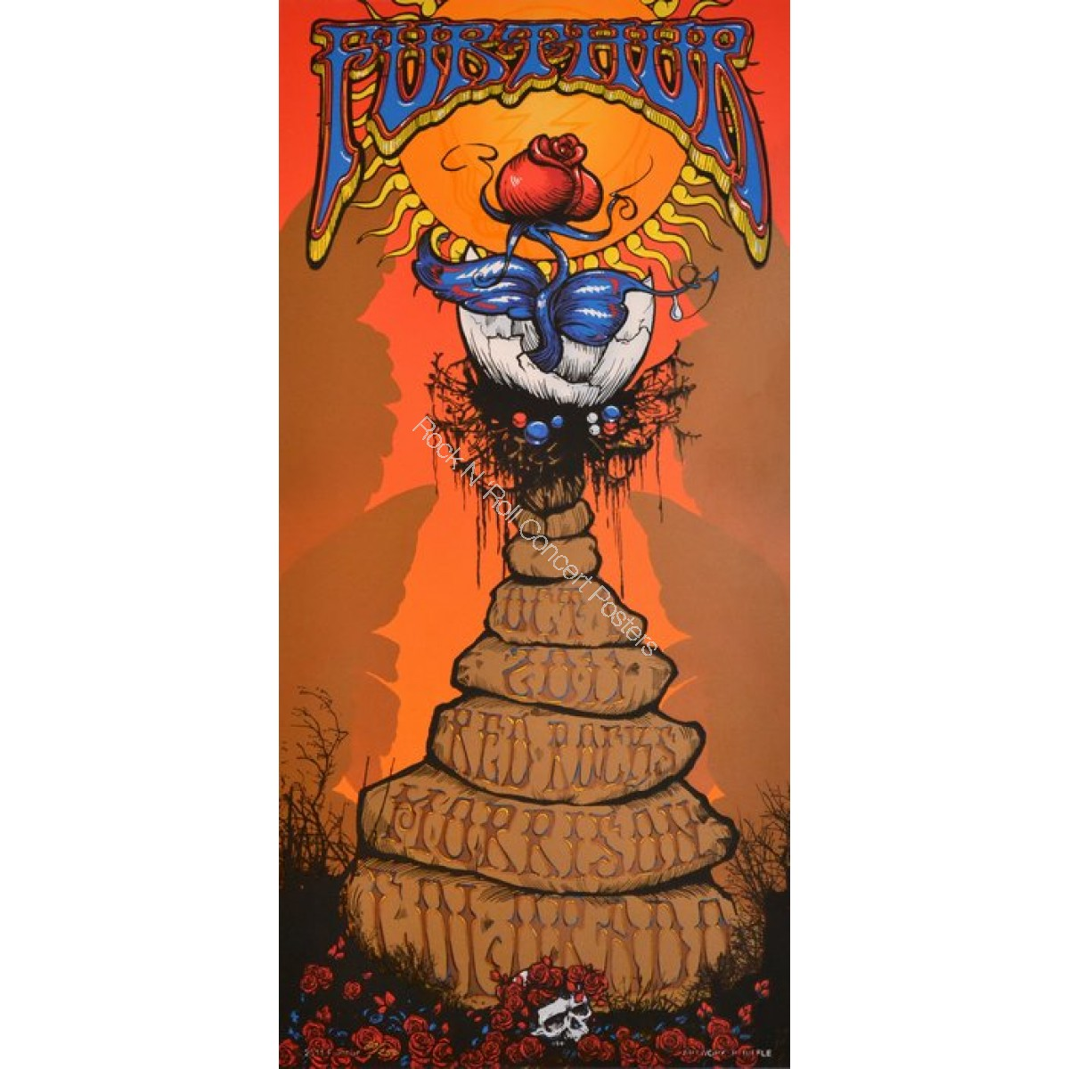 Furthur Red Red Rocks 10/1/11 Official print