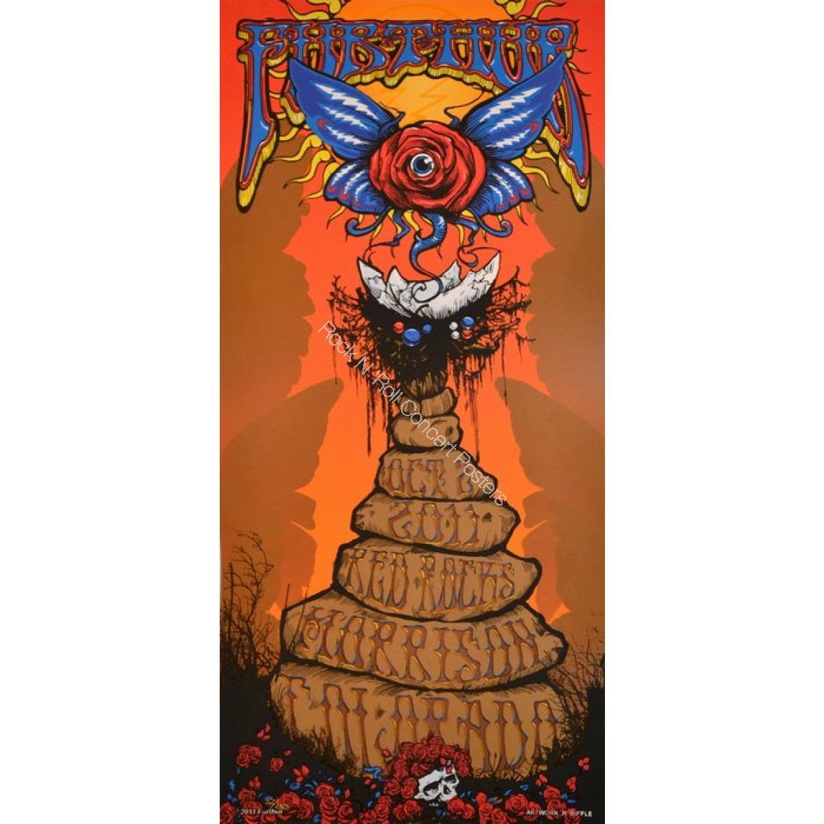 Furthur @ Red Rocks 10/2/11 Official print