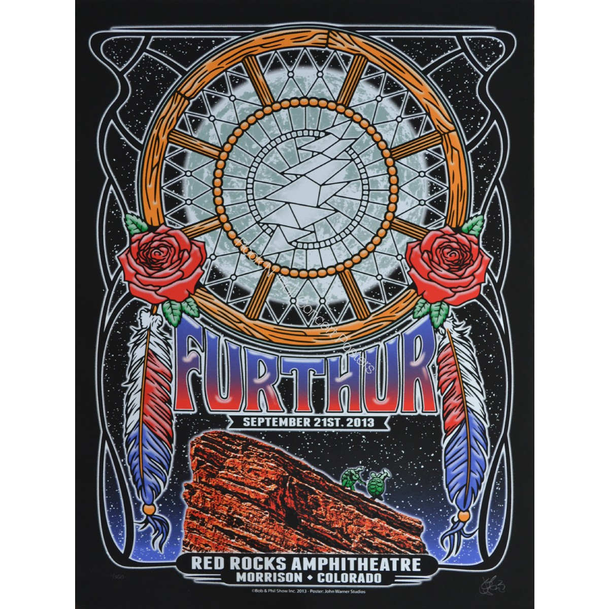 Furthur (Grateful Dead) Red Rocks Amphitheatre September  22nd 2013 Night 3 Official 1st edition