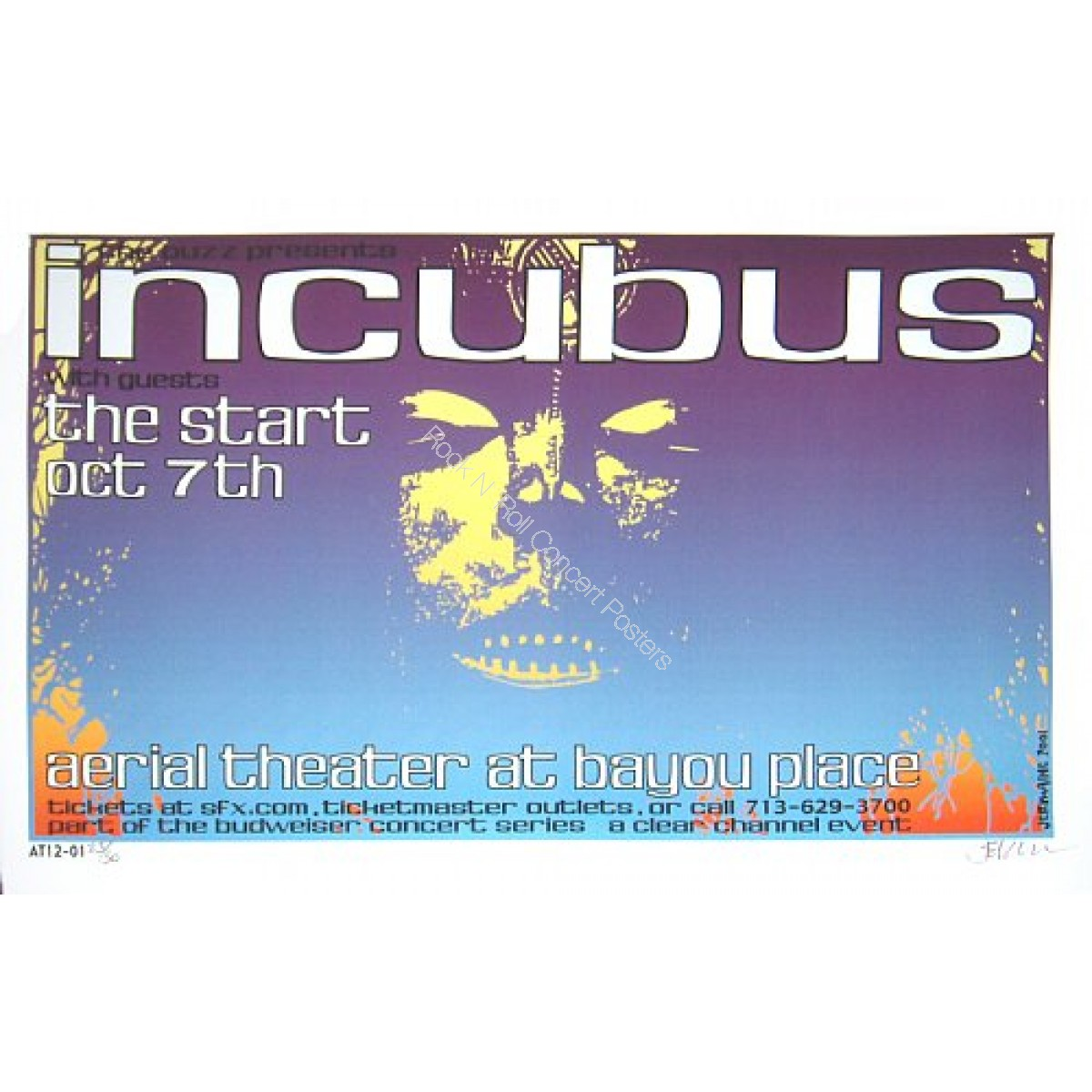 Incubus @ The Aerial Theatre Houston Texas
