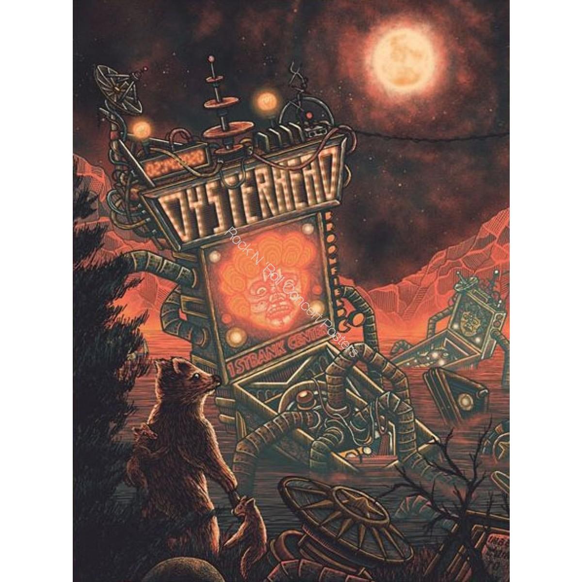 Oysterhead 1STBANK Center Broomfield Colorado 2/14/20 Official Silkscreen Concert Poster S/N edition of 500