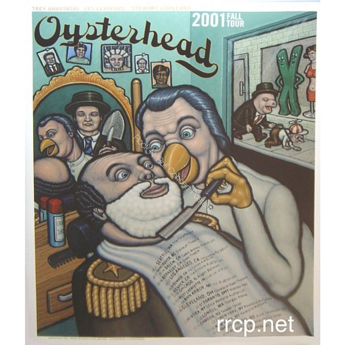 Oysterhead Fall Tour 2001 Official Concert Poster 1st Edition Print