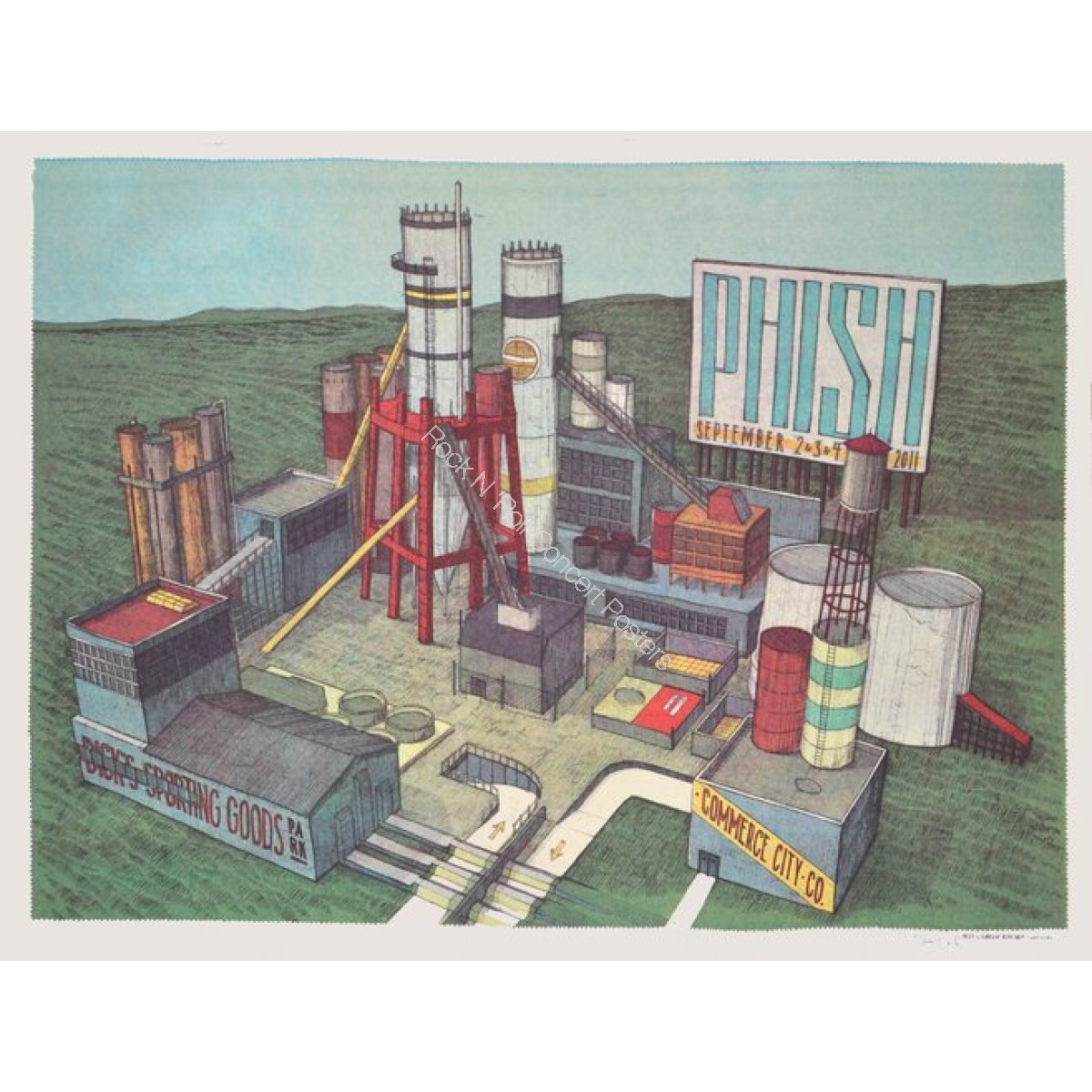 Phish Dick's Sporting Goods Park Commerce City 9/2-4/11 Official Print  By Landland