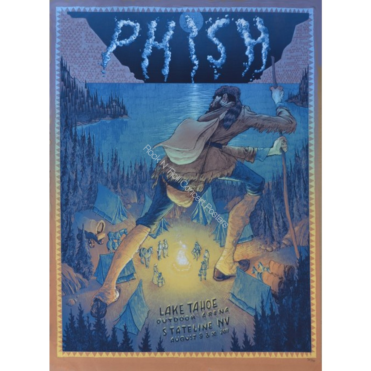 Phish @ Harvey's Casino Lake Tahoe 2011 Official Print  By Rich Kelly