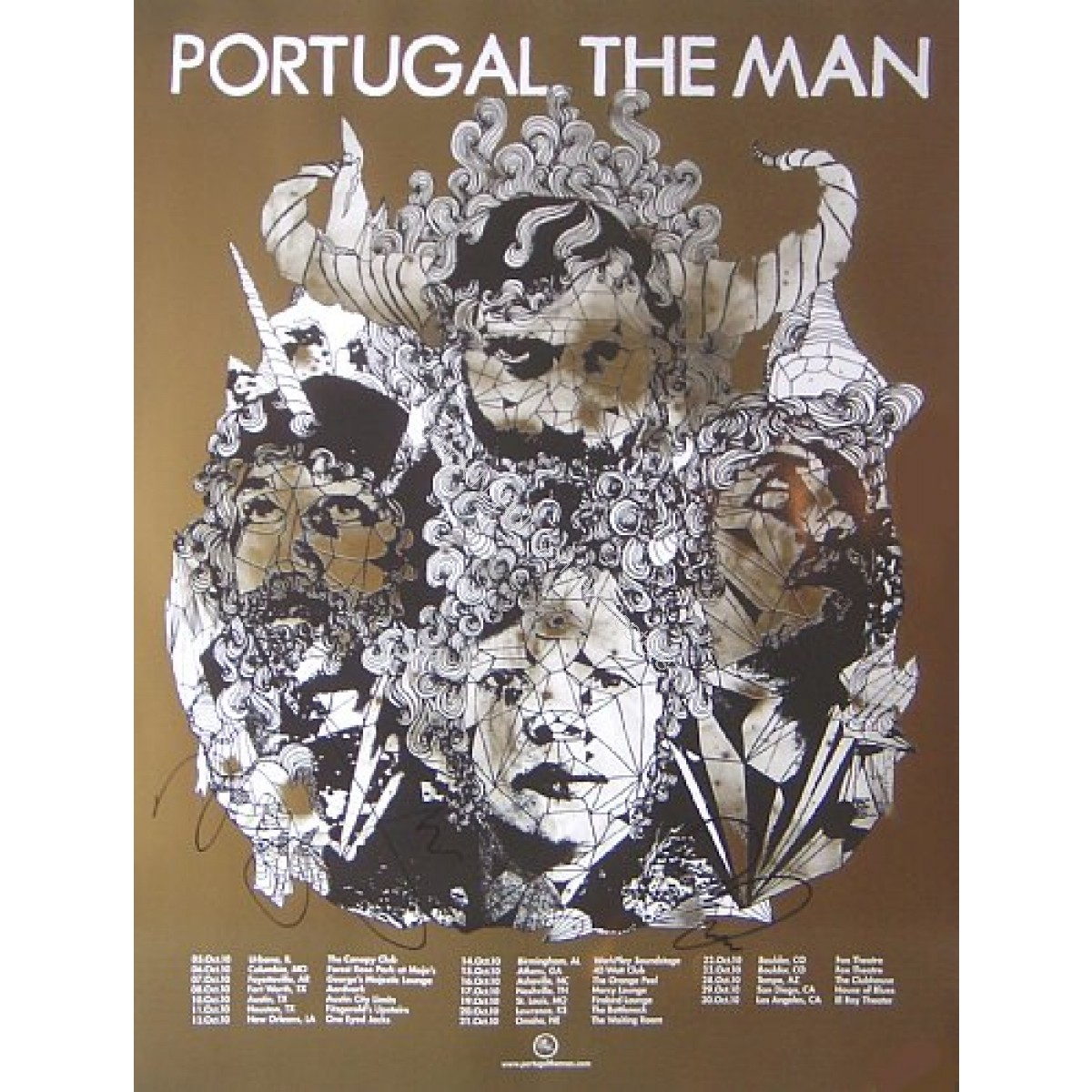 Portugal. The Man Fall Tour 2010 Autographed print