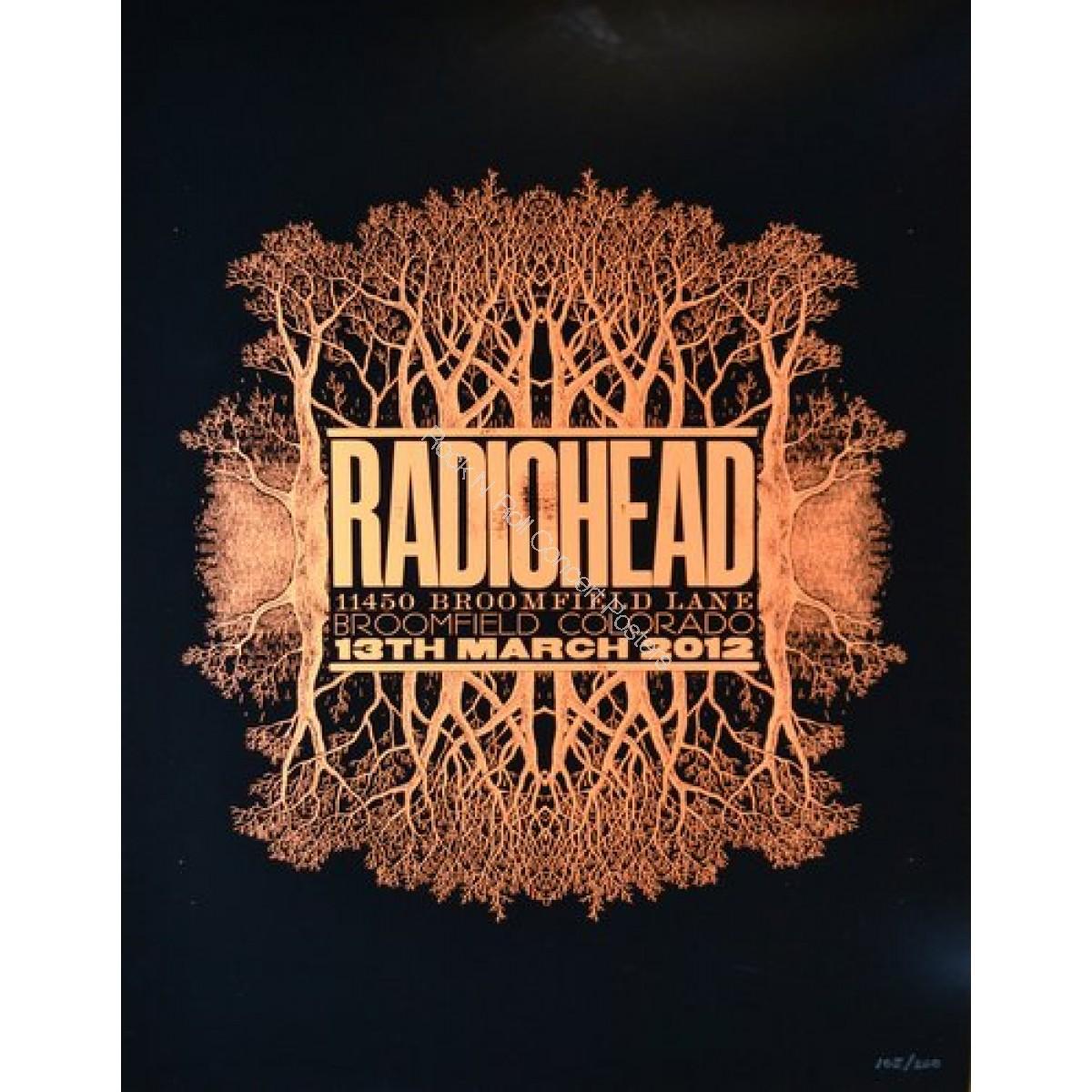 Radiohead March 13th 2012 Broomfield Colorado official print