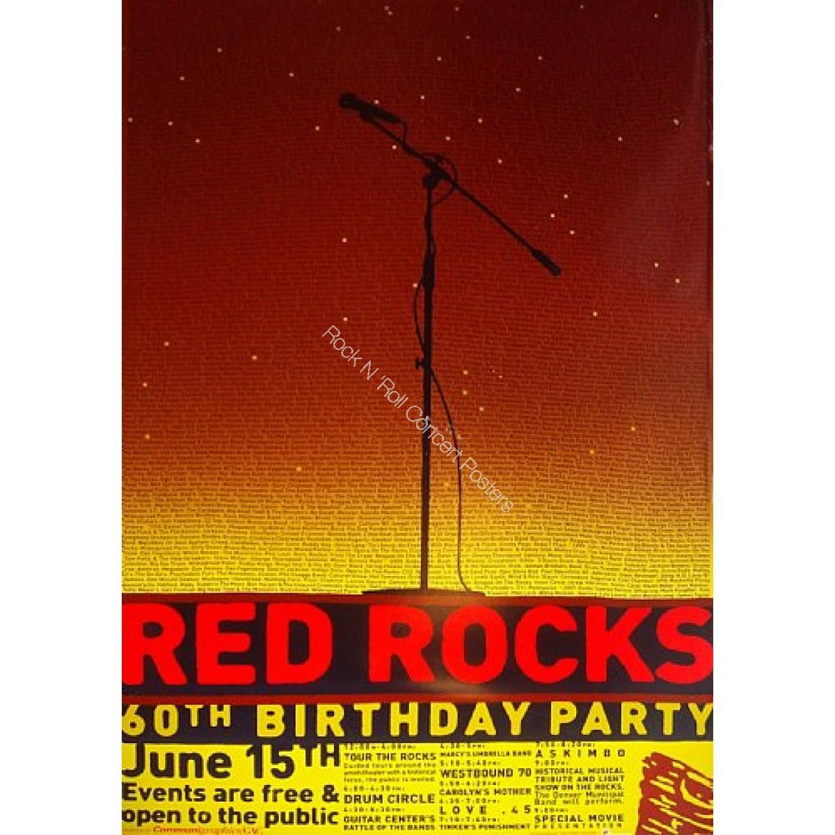 Red Rocks 60th Birthday poster