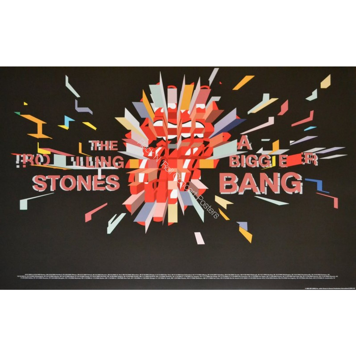 The Rolling Stones Fall 2005 Spring 2006 North American Tour Limited Edition Poster