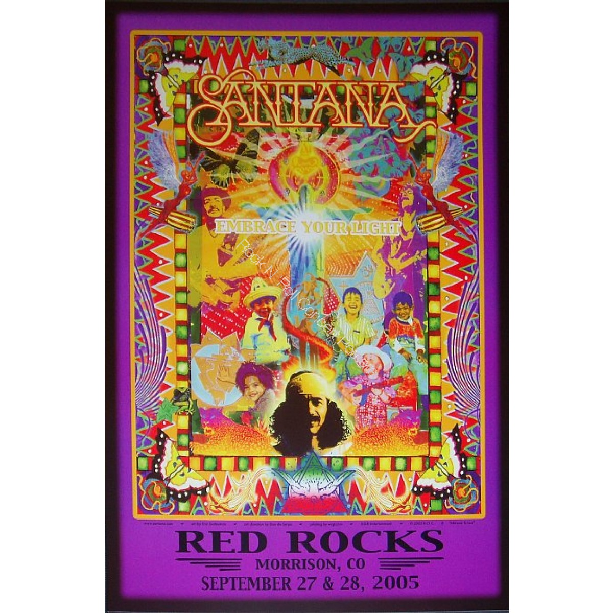 Santana  Red Rocks  9/27-28/05 Limited edition poster