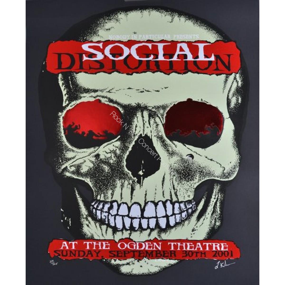 Social Distortion @ The Ogden Theatre Denver  9/30/01