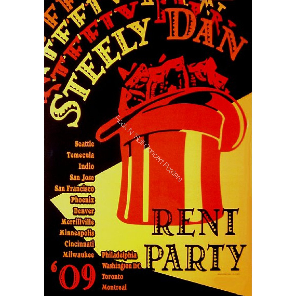 "Steely Dan Fall Tour 2009 2nd Leg ""Rent Party 09"""