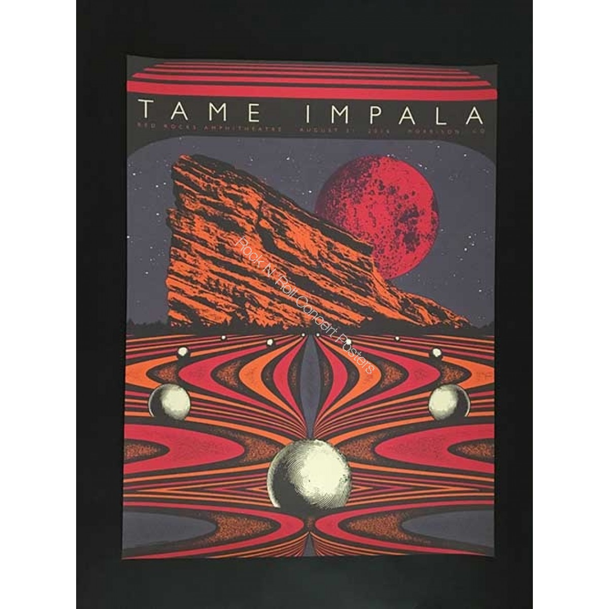 Tame Impala Red Rocks Amphitheater August 31st 2016 Official Poster 1st edition