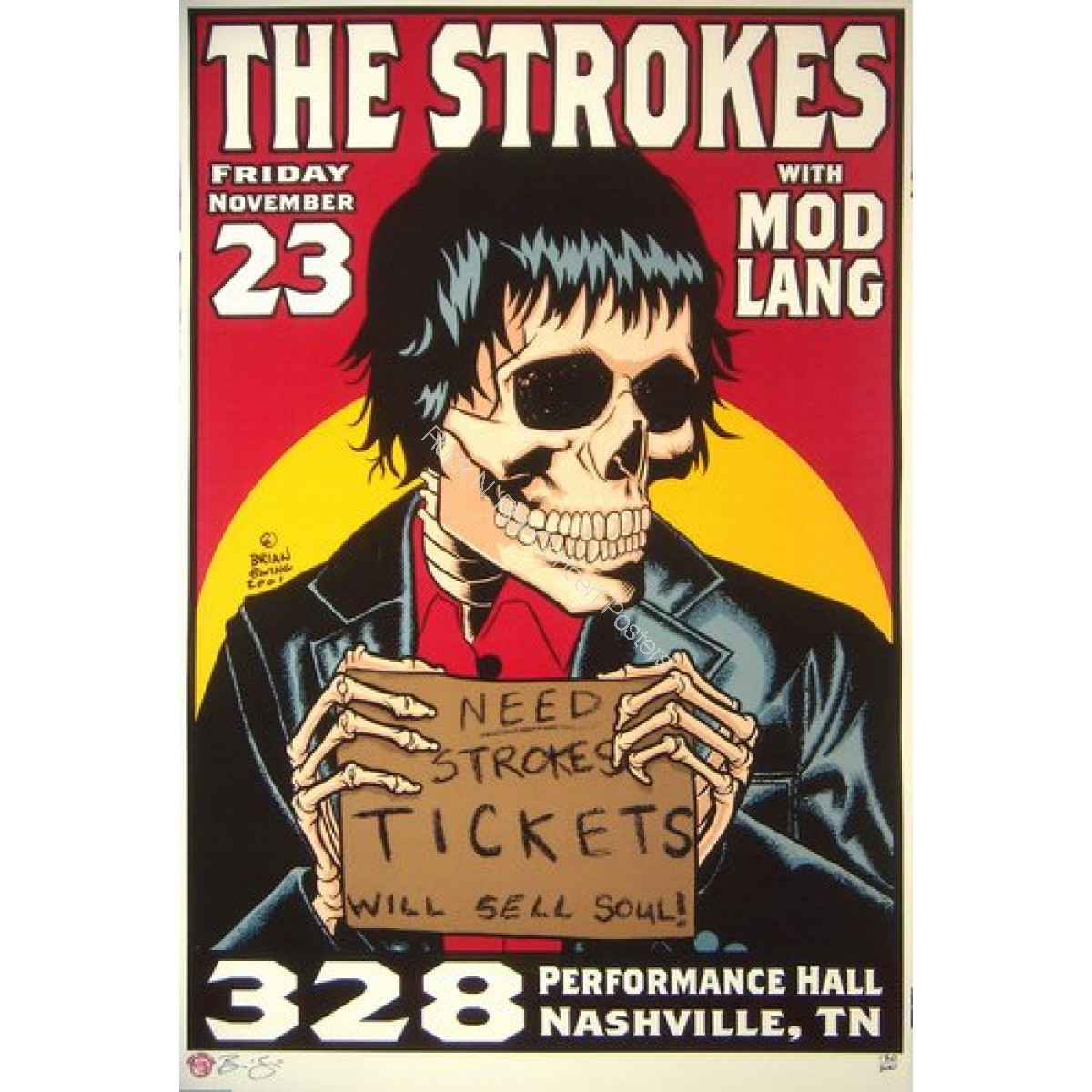 The Strokes @ Performance Halll Nashville TN 11/23/01
