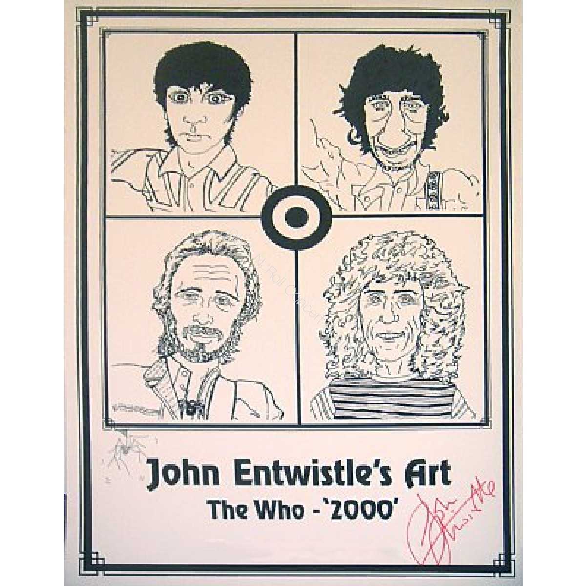 The Who 2000 By John Entwistle with hand signed autograph