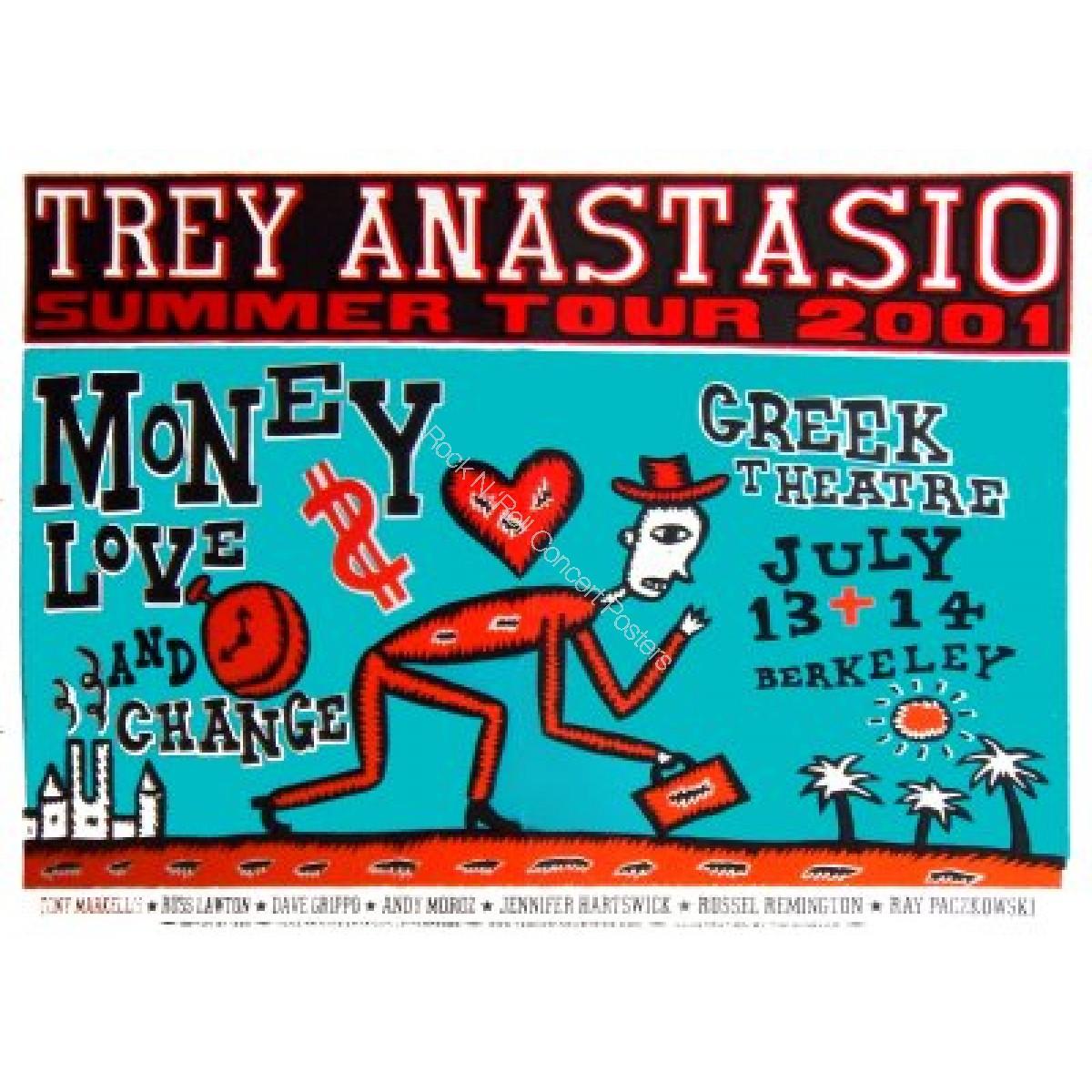 Trey Anastasio @ The Greek Theatre 7/13-14/01 Linocut Silk Screen Print