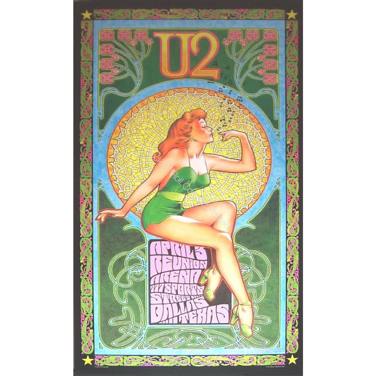 U2 Reunion Arena Dallas Texas 4/3/01 1st printing