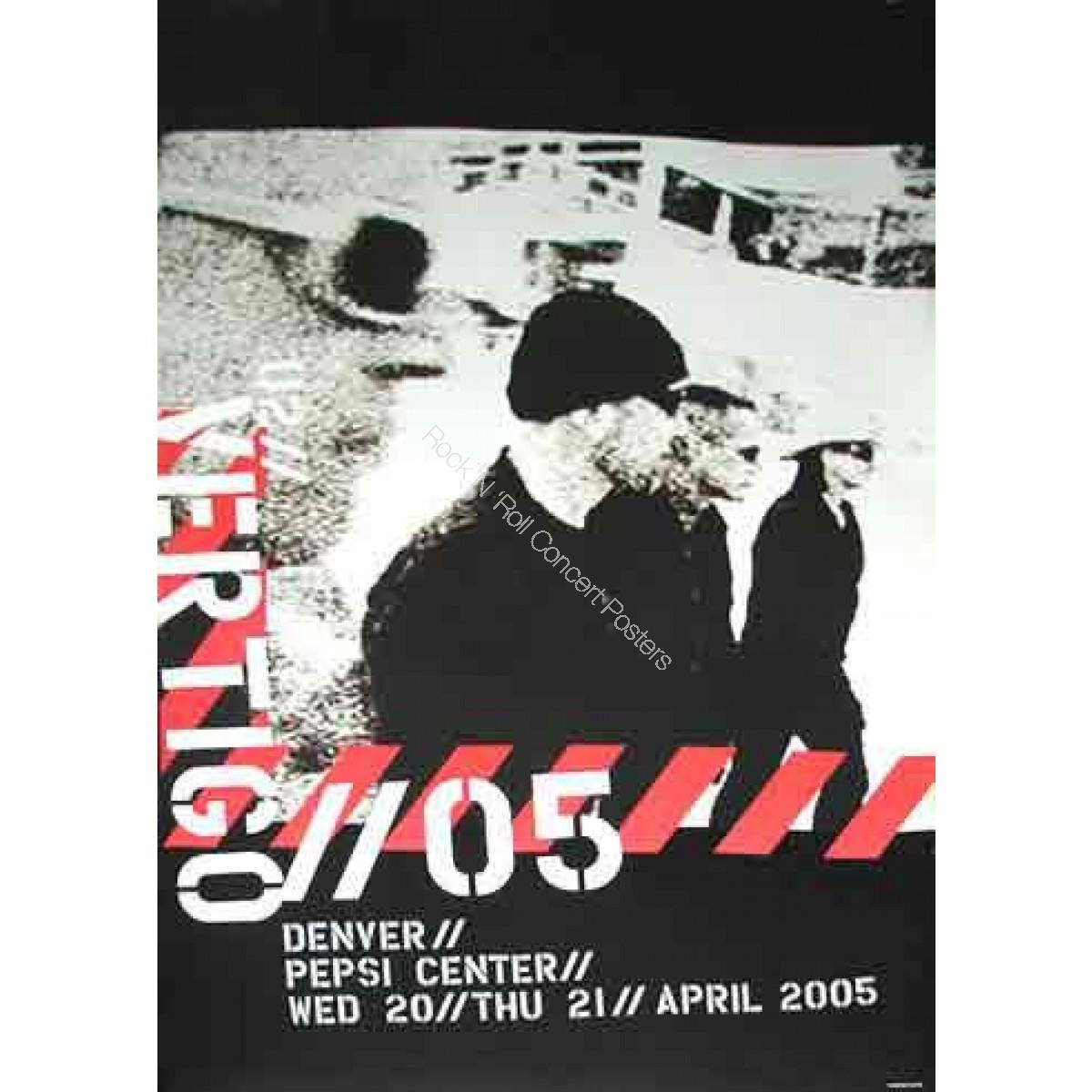U2 @ The Pepsi Center Denver April 20th & 21st 2005 LE print of 100