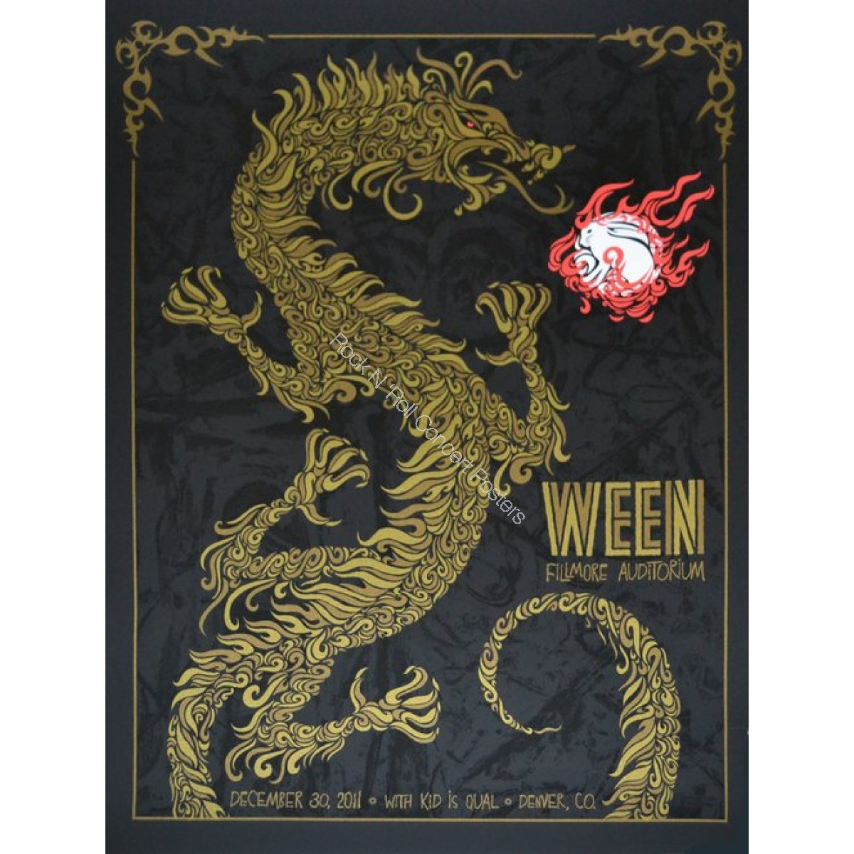 Ween at the Denver Fillmore 12/30/11 Official 1st edition print By Todd Slater