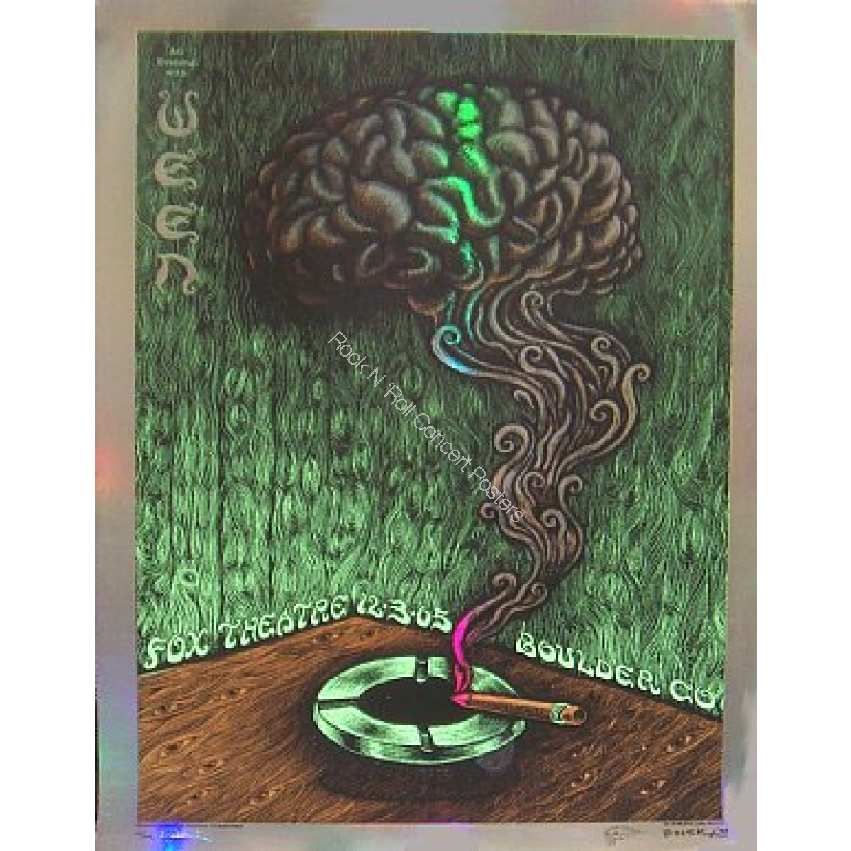 Ween  @  The Fox Theatre 12/3/05 foil poster by Emek