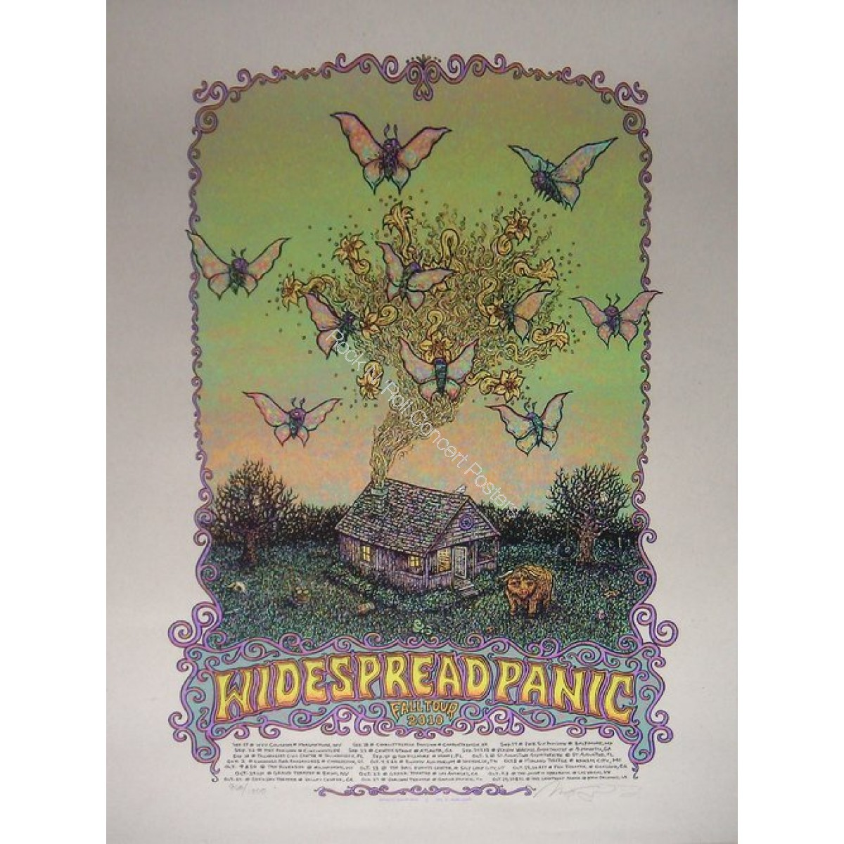 Widespread Panic Fall Tour 2010 print by Marq Spusta
