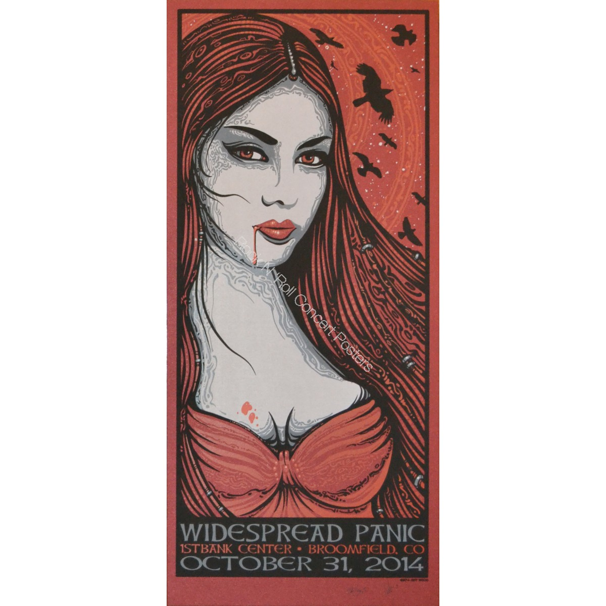 Widespread Panic Halloween 10/31/14 1st Bank Center Broomfield Colorado Official Show Edition Print By Wood