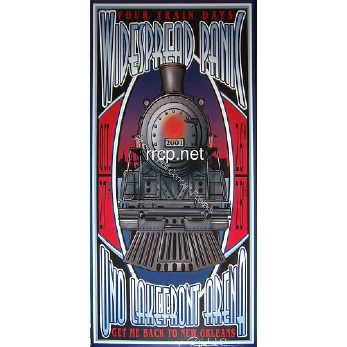 Widespread Panic UNO Lakefront Arena New Orleans 10/27-29/01