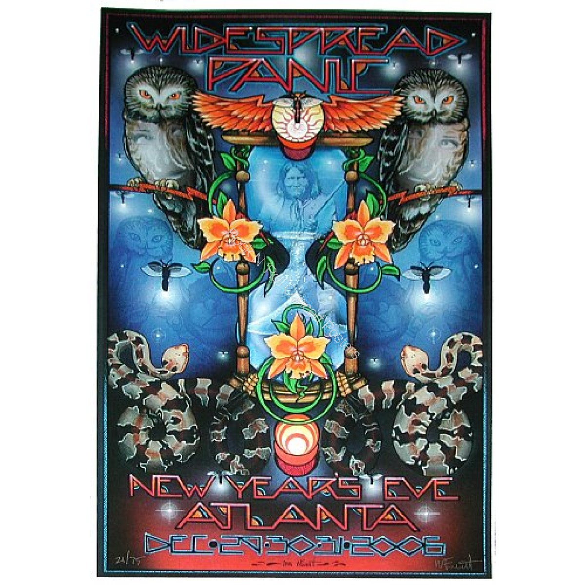 Widespread Panic @ The Philips Arena New Years Eve Concerts 2006 Atlanta Georgia LE print of 75 By Michael Everett